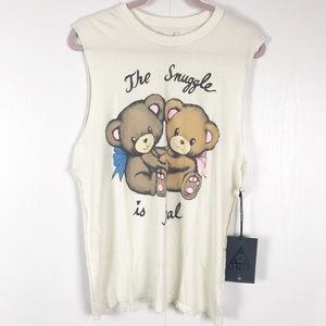 UNIF Graphic Muscle Tee, Bear Graphic